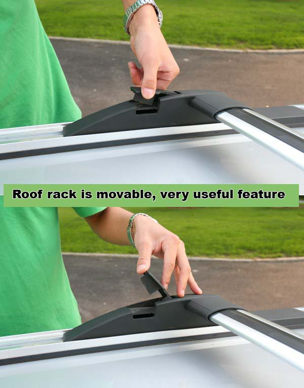 Hover X240 Roof rack is movable, useful feature