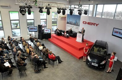 Chery Automobile successful Landing Serbia