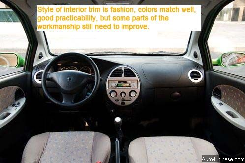 Style of interior trim is fashion, colors match well, good practicability, but some parts of the workmanship still need to improve.
