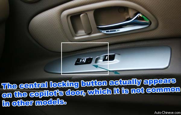 Hover SUV (X240) Central lock button actually appears on the copilot's door