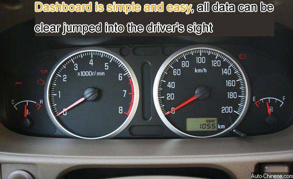Dashboard is simple and easy, all data can be clear jumped into the driver's sight