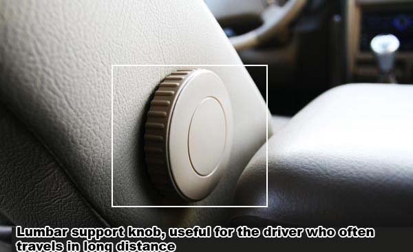 Hover X240 Lumbar support knob, useful for the driver who often travels in long distance