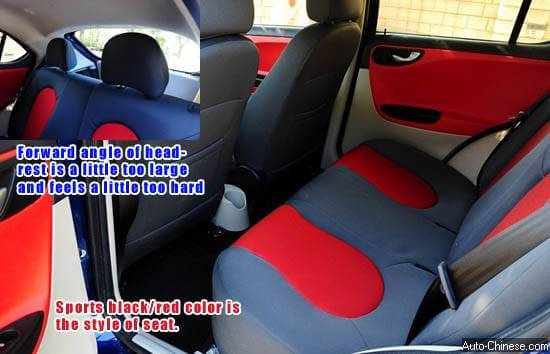 Conventional white rice color was replaced by sport-style black/red color of rear row seat