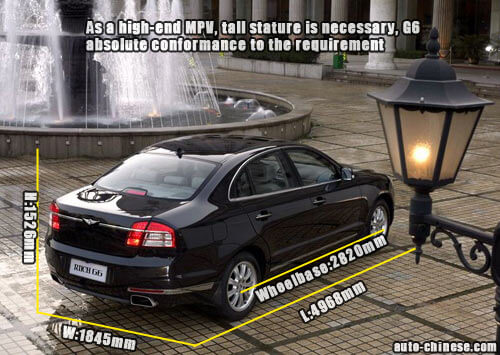 As a high-end MPV, tall stature is necessary, G6 absolute conformance to the requirement