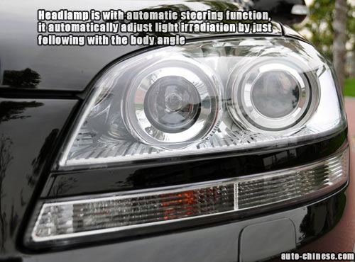 Headlamp is with automatic steering function, it automatically adjust light irradiation by just following with the body angle