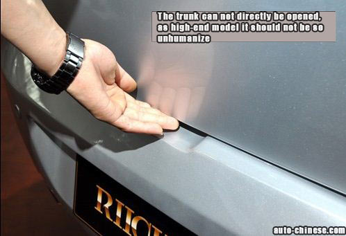 The trunk can not directly be opened, as high-end model it should not be so unhumanize