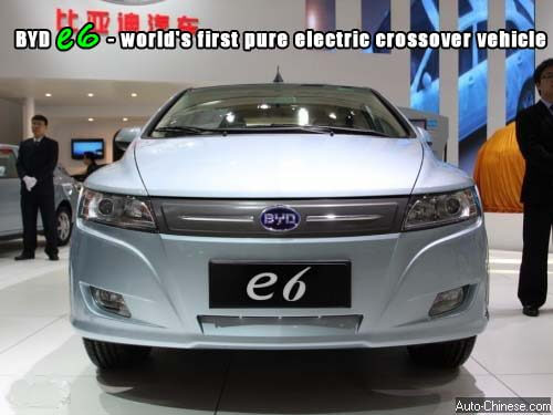 BYD E6 Static Review - world's first pure electric crossover vehicle