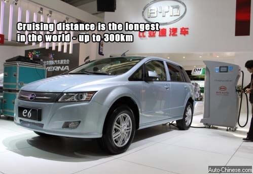 BYD E6's cruising range is over 300 km, it is the world's most powerful pure EV in cruising range