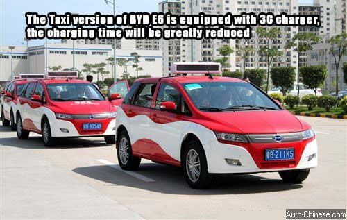 The Taxi version of BYD E6 is equipped with 3C charger, the charging time will be greatly reduced