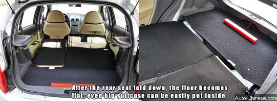 The rear row seat is as much comfort as front ones, wide seat can give a good support for leg, and head and leg room are good