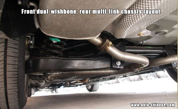 Front dual-wishbone, rear multi-link chassisi layout