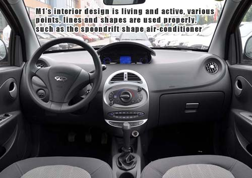 Chery Riich M1 Review and road Test - Interior Design