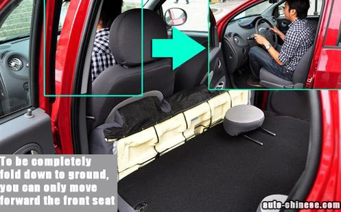 To be completely fold down to ground, you can only move forward the front seat
