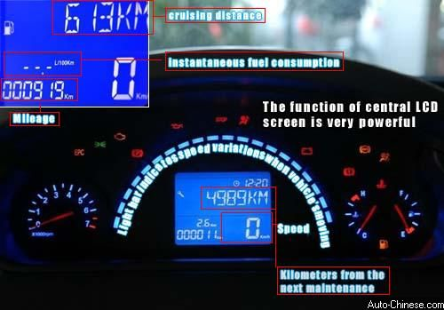 The light bar indicates the speed variations when vehicle's moving