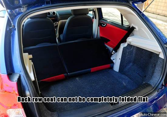 the rear seats can not be completely kept flat