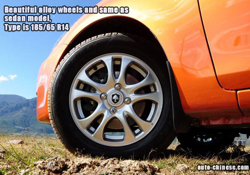 Beautiful alloy wheels and same as sedan model, 185/65 R14