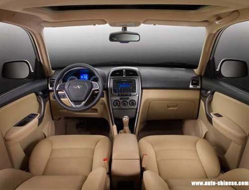 Black + beige dual color interior trim, waterfall model center control