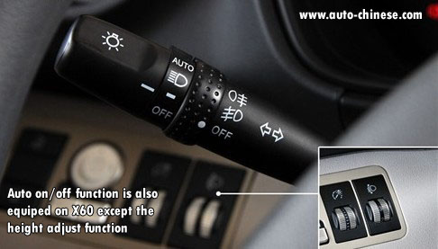 Auto on/off function is also equiped on X60 except the height adjust function