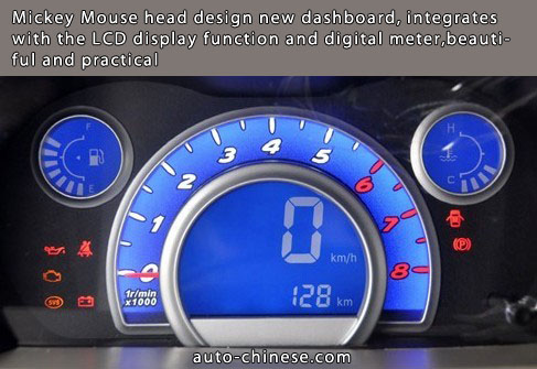 Mickey Mouse head design new dashboard, integrates with the LCD display function and digital meter,beautiful and practical