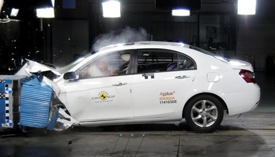 Geely EC7 Got 4-star on Euro-NCAP