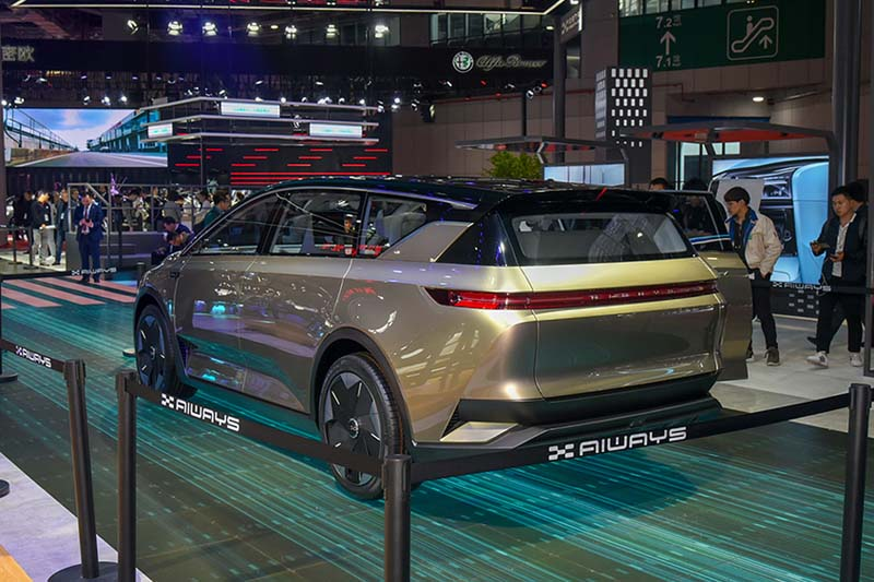 AIWAYS Auto Debuted Its Concept Car U7 ion with Many Innovations at 2019 Shanghai Auto Show