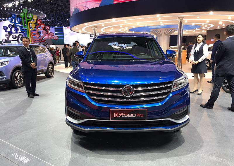 Facelift Dongfeng Fengguang 580 Pro Unveiled on 2019 Shanghai Auto Show