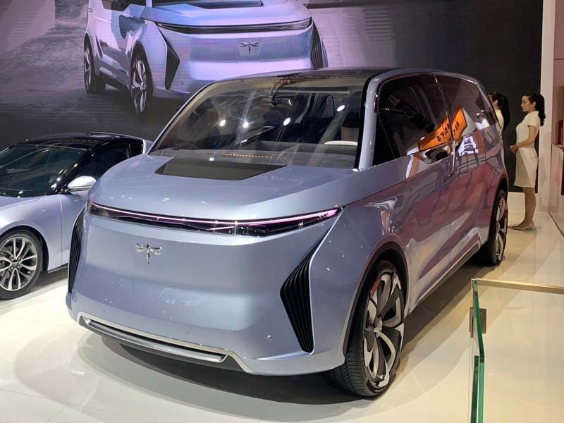 Qiantu Motor Debuted Its Electric MPV Model - Qiantu Concept 2 on 2019 Shanghai Auto Show