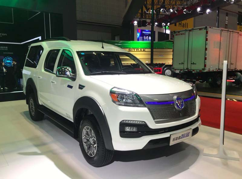 FOTON Motor Released Its EV Pickup Tunland IBLUE (ZHILIAN) At 2019 Shanghai Auto Show