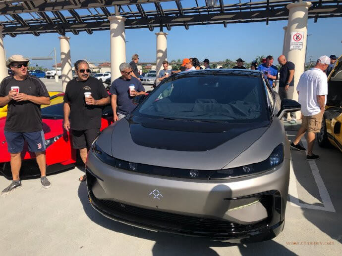 Faraday Future's FF 91 Exposed on Luxury Car Festival in US