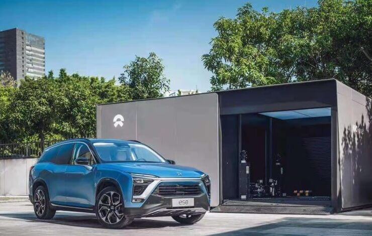 "NIO City Power Station Gets On-line In NIO APP's ""Charging Map"""