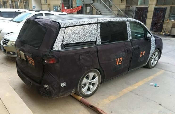 Spy Photos of SAIC Roewe New MPV Exposed, Or Powered by 2.0T