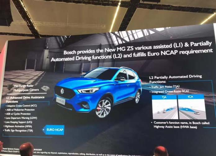 Bosch Provides L2 Automated Driving System for MG ZS