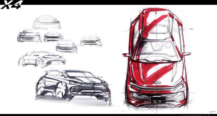 JAC Jiayue X4 design sketch released or launched in the second half of the year