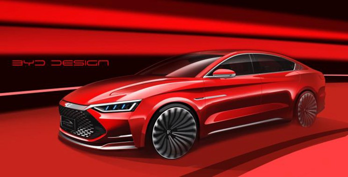 "BYD HAN DM Has a Sharp ""Dragon Face"" Design and Luxury Interior"