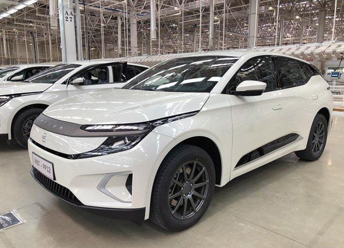 Byton M-Byte Trial Vehicle Rolled off the assembly line or listed in the 2nd half  2020