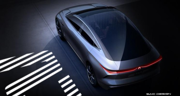 Teaser Images of SAIC-Roewe's all new R-Aura Concept Car
