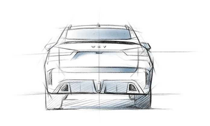 Sketch Images of WEY VV7 GT barbus Special Edition