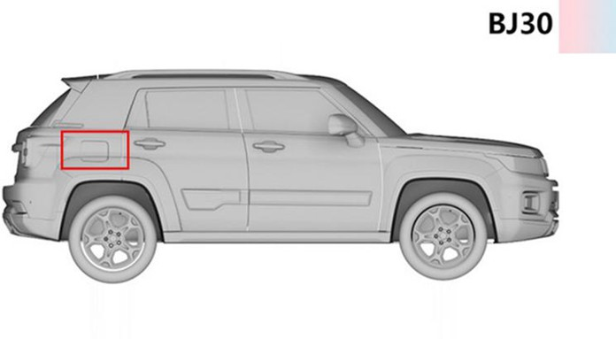 BAIC Beijing BJ30 Leaks with Patent Images