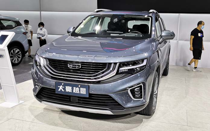 Geely Launched an all-new mid-size SUV Haoyue with price starting at 103,600 yuan in China