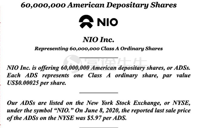 NIO plans to issue 69 million ADS shares to raise a maximum of US2 million