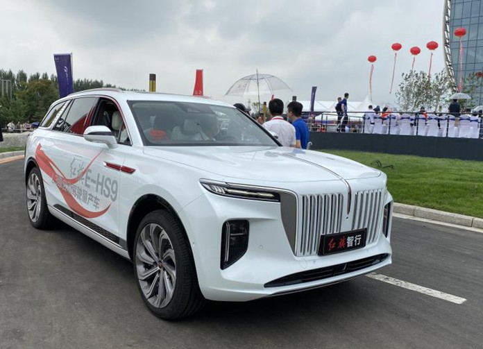 Hongqi E-HS9 made debuted with real car images